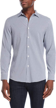Perry Ellis Slim Fit Stretch Check Sport Shirt