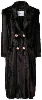 Erdem faux fur double-breasted coat