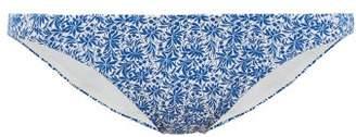 The Upside Mila China Print Bikini Briefs - Womens - Blue White