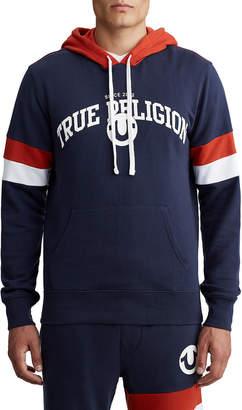 True Religion MENS COLLEGE PANEL PULLOVER HOODIE