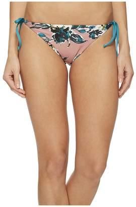 Splendid Watercolor Floral Reversible Tie Side Bikini Bottom Women's Swimwear