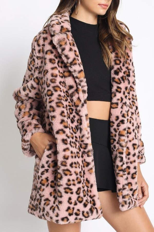 a beauty Leopard Faux-Fur Coat