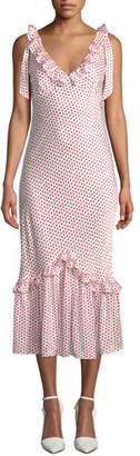 Your Own Maggie Marilyn You Can Hold Dot-Print Ruffle Dress