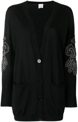Pinko embroidered sleeve cardigan