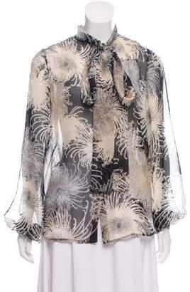 No.21 No. 21 Silk Floral Print Blouse