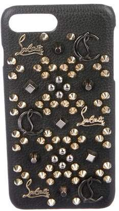 Christian Louboutin Spiked Leather Cellphone Case