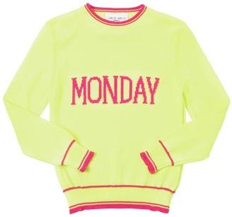 Alberta Ferretti Monday Intarsia Cotton Knit Pullover