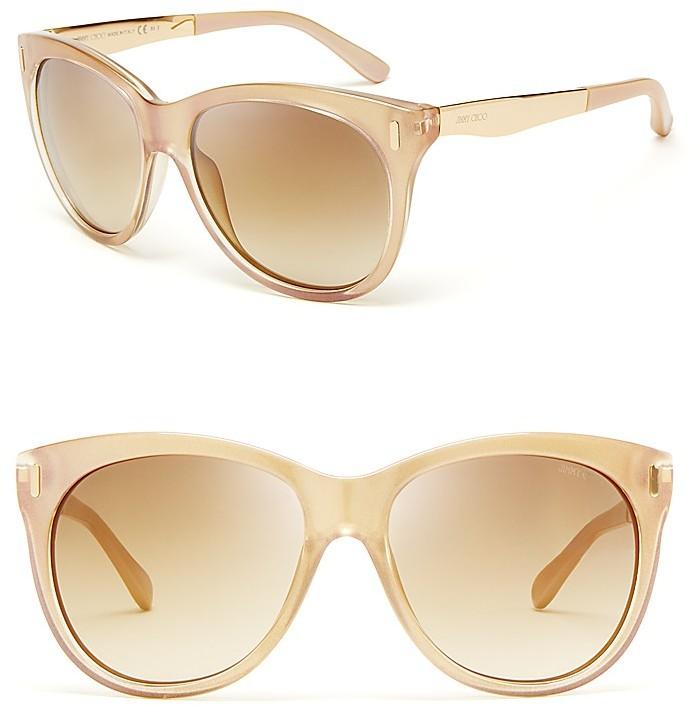 Jimmy Choo Ally Oversized Mirror Round Sunglasses
