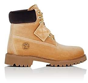 Off-White Men's 6-Inch Velveteen Boots-Lt. brown