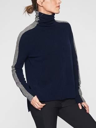 Athleta Transit Colorblock Pullover Turtleneck Sweater
