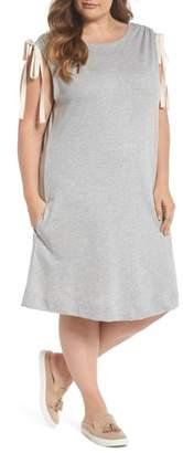 Caslon Ruched Shoulder Shift Dress