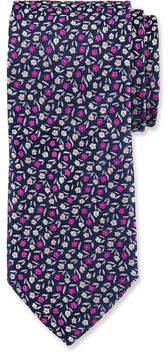 Duchamp Floral Pattern Silk Tie