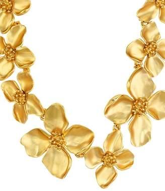 "Oscar de la Renta Flower Statement Necklace, 14"""