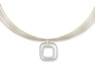 Alor Multi-Row Diamond Square Pendant Necklace