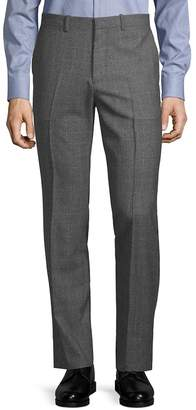 Theory Men's Marlo Check-Print Wool Pants