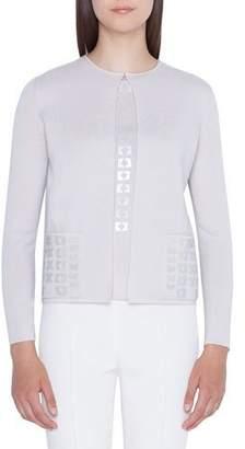 Akris Sequin-Pocket Cashmere Sweater