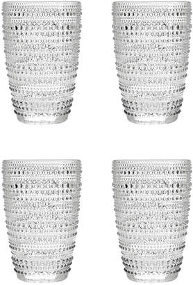 Godinger Lumina Set Of 4 10Oz Hiball Glasses