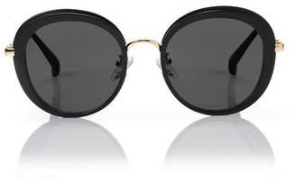 Blanc Eclare Portofino Black And Gold Metal With Smog Grey Lens