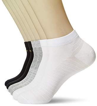 KOSY KOMFORT Mens Cotton 6-Pack Low Cut Ankle Socks FIT 6-11