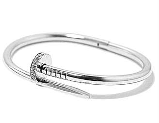 Sterling Forever Women's Rhodium-Plated & Cubic Zirconia Nail Wrap Bangle