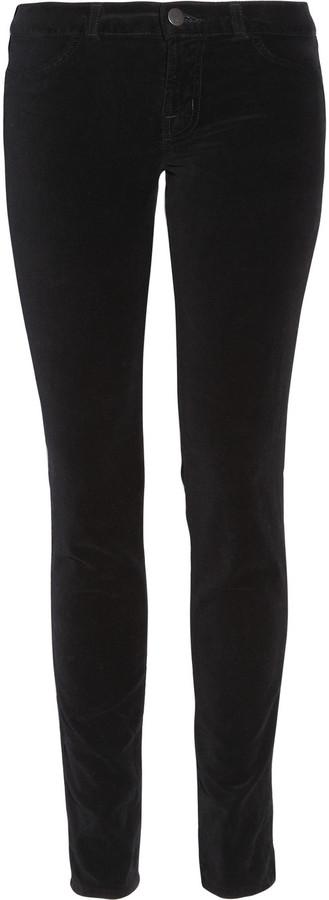 J Brand 901 low-rise skinny velvet jeans