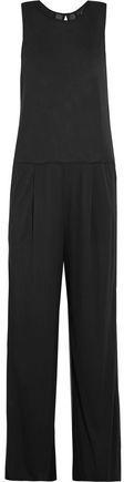 Dkny Chiffon-Trimmed Jersey Jumpsuit