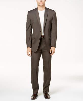 Andrew Marc Men's Classic-Fit Brown Pinstripe Suit