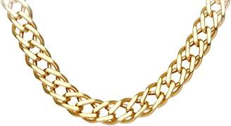 Camilla And Marc Citerna Unisex 9 ct Yellow Gold Chunky Double Curb Necklace Chain of Length 56 cm