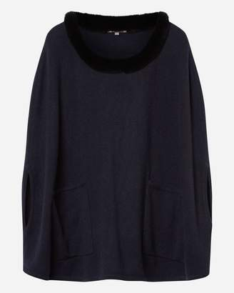 N.Peal Fur Pocket Poncho