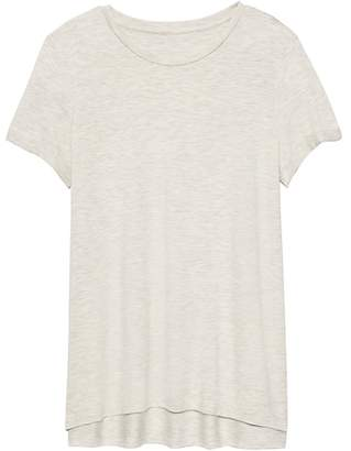 Banana Republic Petite Threadsoft High-Low Hem T-Shirt
