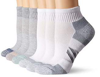 Amazon Essentials Women's Plus 6-Pack Performance Cotton Cushioned Athletic Ankle Socks