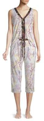 Tahari Two-Piece Printed Pajama Set