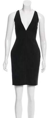 DSQUARED2 Suede Mini Dress