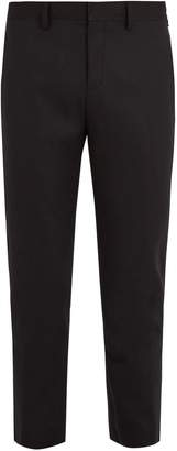 Neil Barrett Tapered-leg cropped stretch-wool trousers