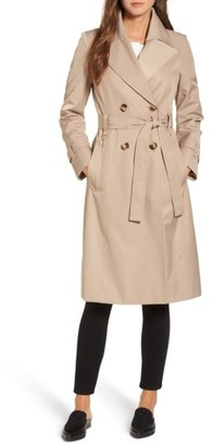 Women's Via Spiga Double Breasted Trench Coat $180 thestylecure.com