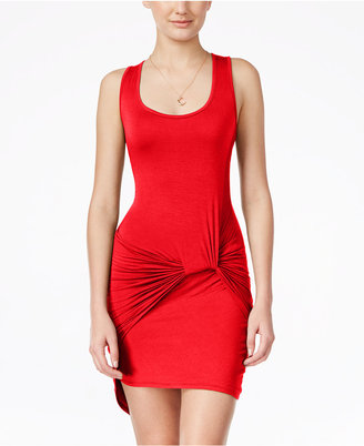 Planet Gold Juniors' Knot-Side High-Low Tank Dress $39 thestylecure.com