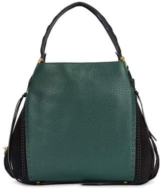 Coach Edie Army Green Grained Leather Tote