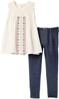 Jessica Simpson Top with Jeggings (Toddler Girls)
