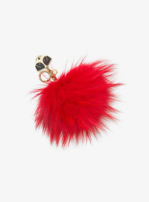 Michael Kors Fur Key Chain With Dog Charm