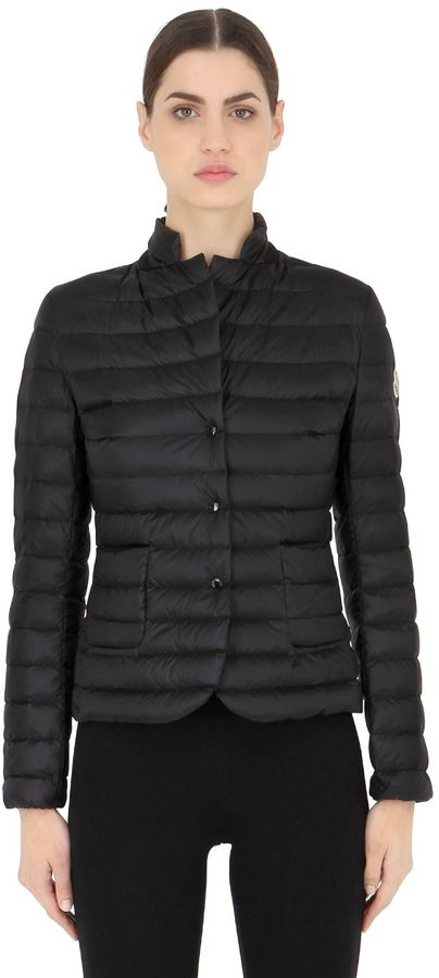 Moncler Leyla Longue Saison Nylon Down Jacket