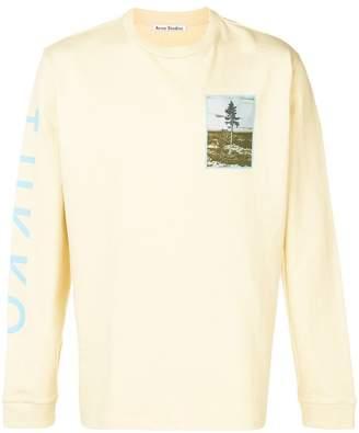 Acne Studios printed long sleeve T-shirt