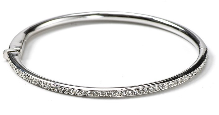 Nadri Hinged Channel Set Crystal Bangle