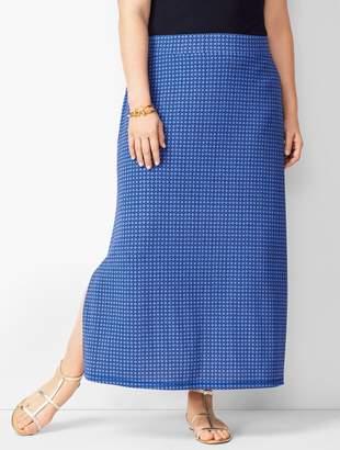 ec4d6a07d8 Talbots Plus Size Knit Jersey Geometric Maxi Skirt