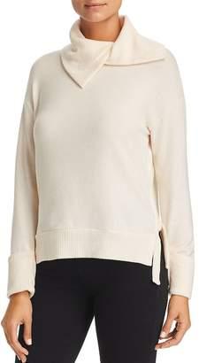 Three Dots Slit Cowl Neck Sweater