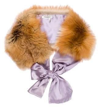 Saint Laurent Fox Fur Silk Stole