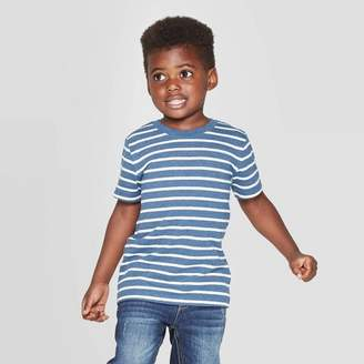 Cat & Jack Toddler Boys' Striped Short Sleeve T-Shirt Blue