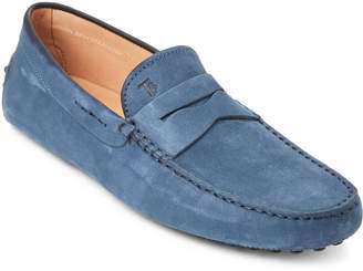 Tod's Captain Blue Nubuck Penny Drivers