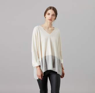 Amanda Wakeley Hutton Ecru & Pebble Cashmere Boyfriend