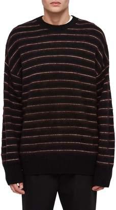 AllSaints Bretley Oversize Stripe Wool Blend Sweater