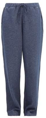 Skin - Breena Drawstring Cotton Track Pants - Womens - Denim